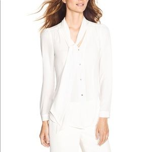 WHBM 10 TIE FRONT BLOUSE 570148987